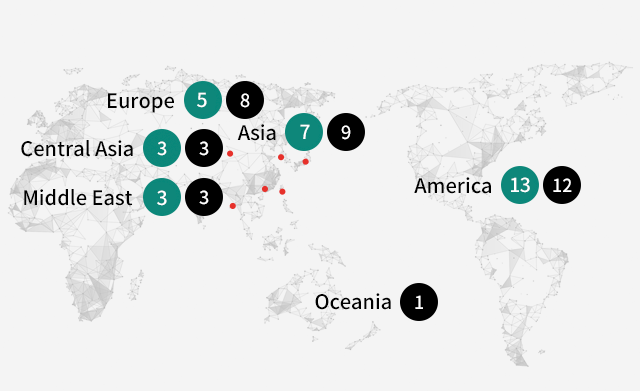 Medytox Global Network Map Mobile